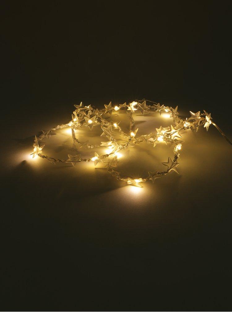 Micro LED světelný řetěz ve tvaru hvězd Kaemingk