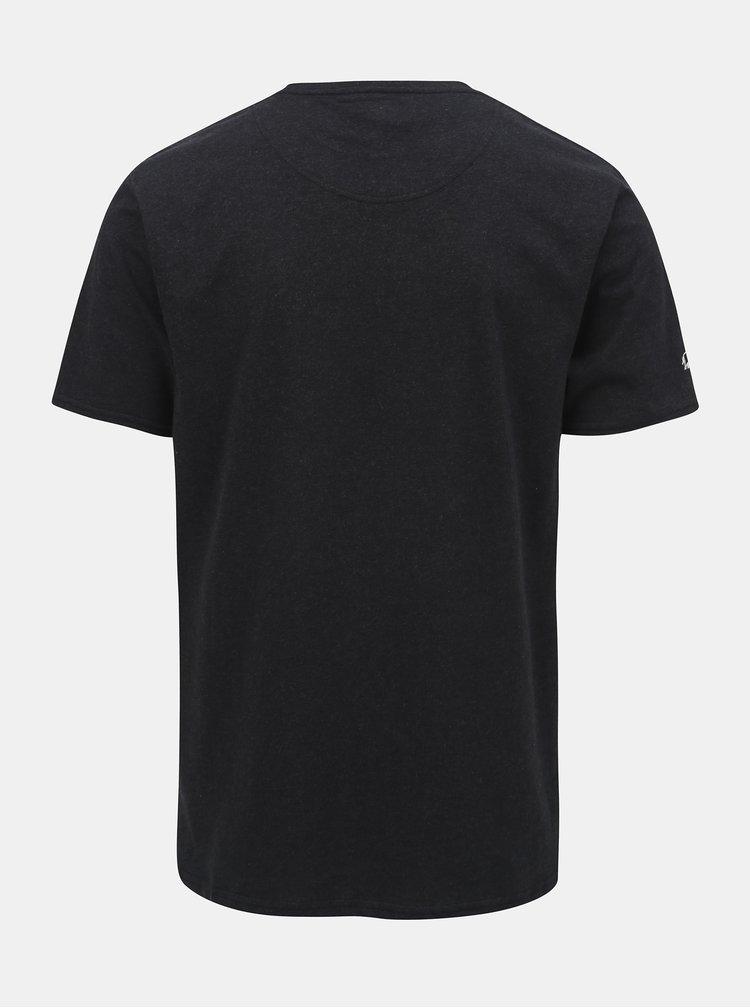 Černé tričko s potiskem Raging Bull