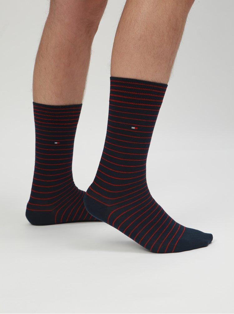 Sada boxerek a ponožek v modré a vínové barvě Tommy Hilfiger
