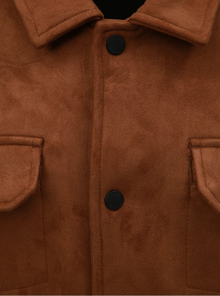 Jacheta maro cu aspect de piele intoarsa Farah Finley