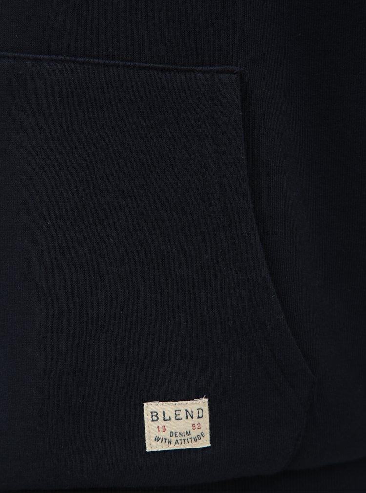 Hanorac albastru inchis cu blana artificiala Blend