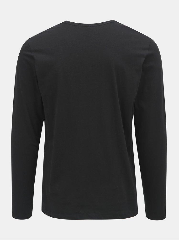 Černé tričko s nápisem Blend