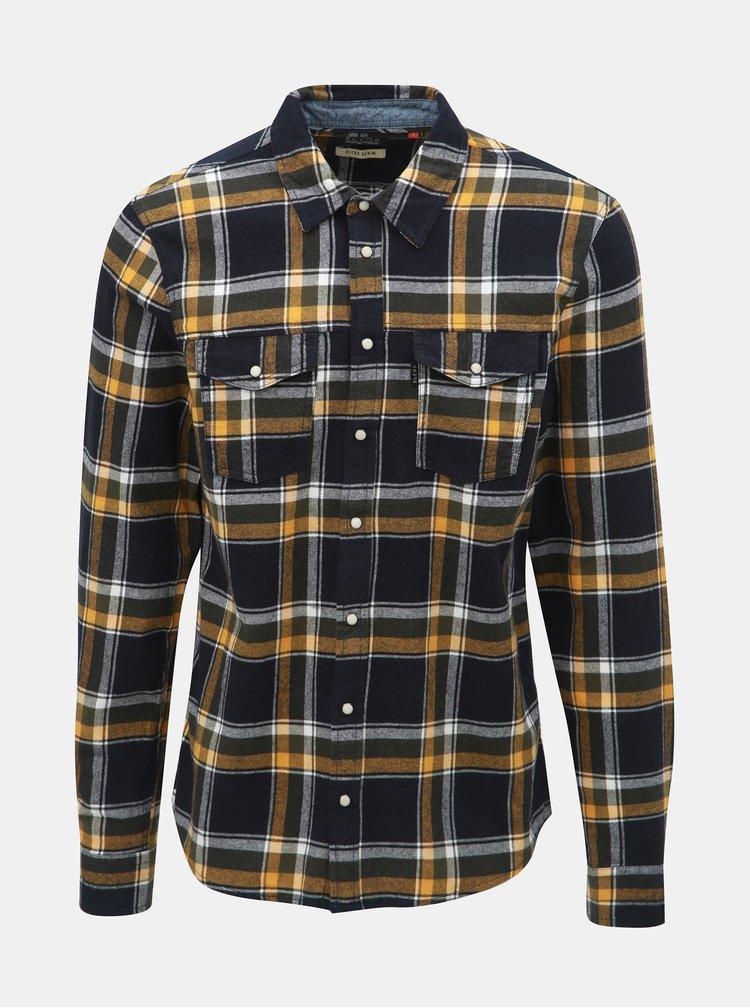 Horčicovo–čierna károvaná košeľa Blend
