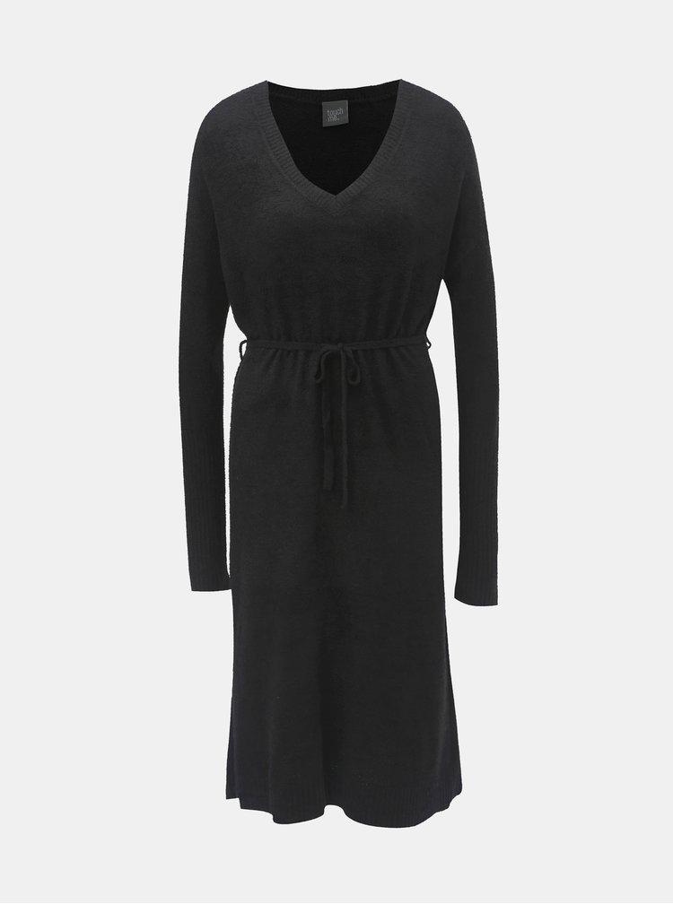 Čierne svetrové šaty touch me.