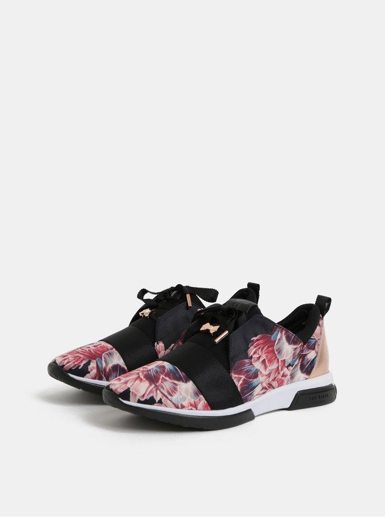 Pantofi sport de dama negru-roz cu model Ted Baker