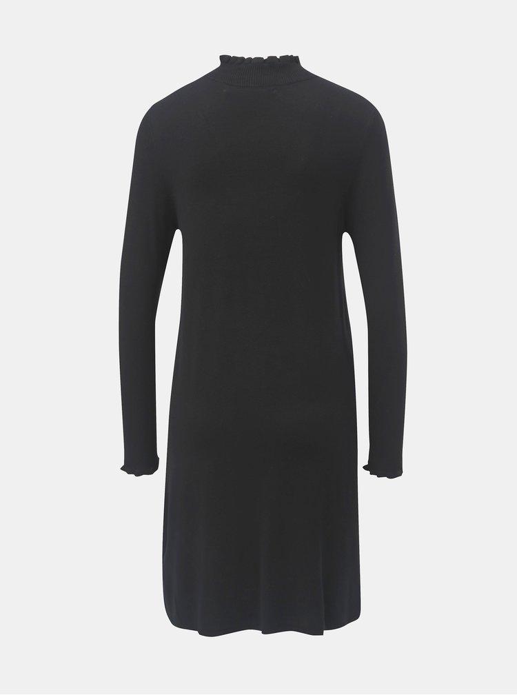 Černé svetrové šaty se stojáčkem ONLY Mila