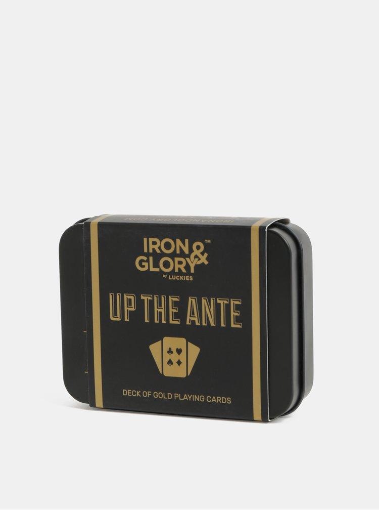 Set cadou de carduri auriu-negru Iron & Glory by Luckies