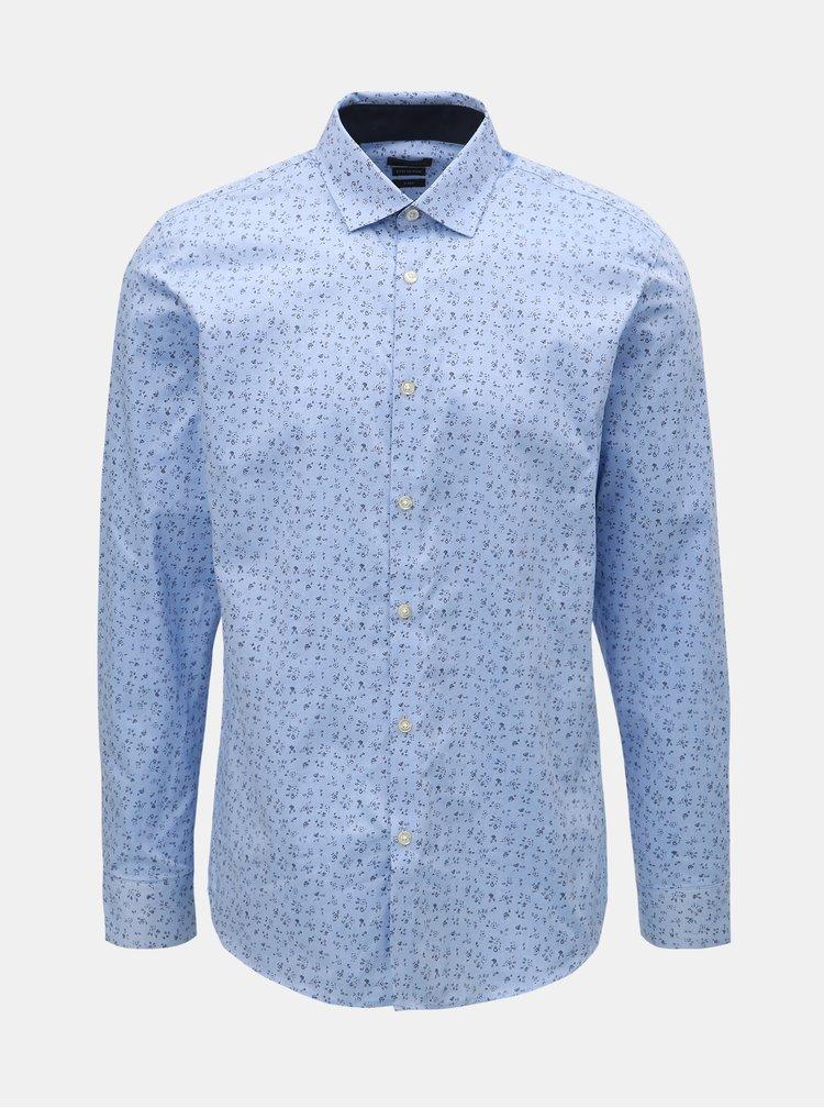 Camasa albastru deschis cu model Selected Homme