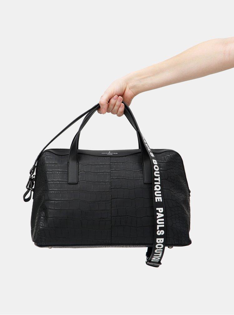 Geanta neagra din piele sintetica Paul's Boutique Christine