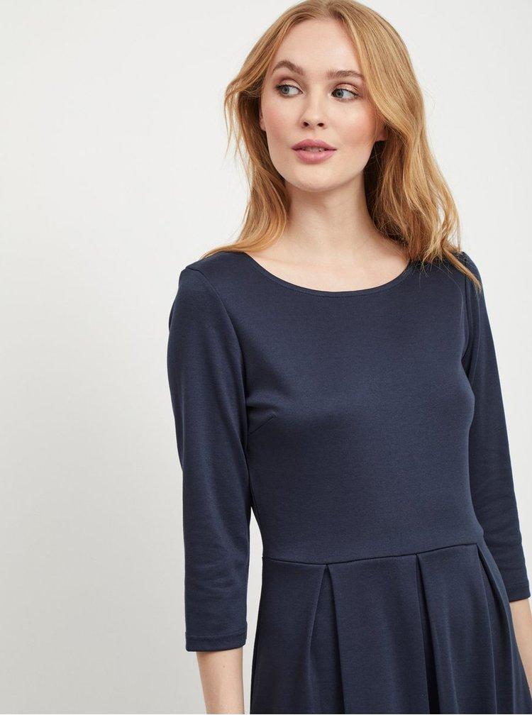 Tmavě modré šaty s 3/4 rukávem VILA Tinny