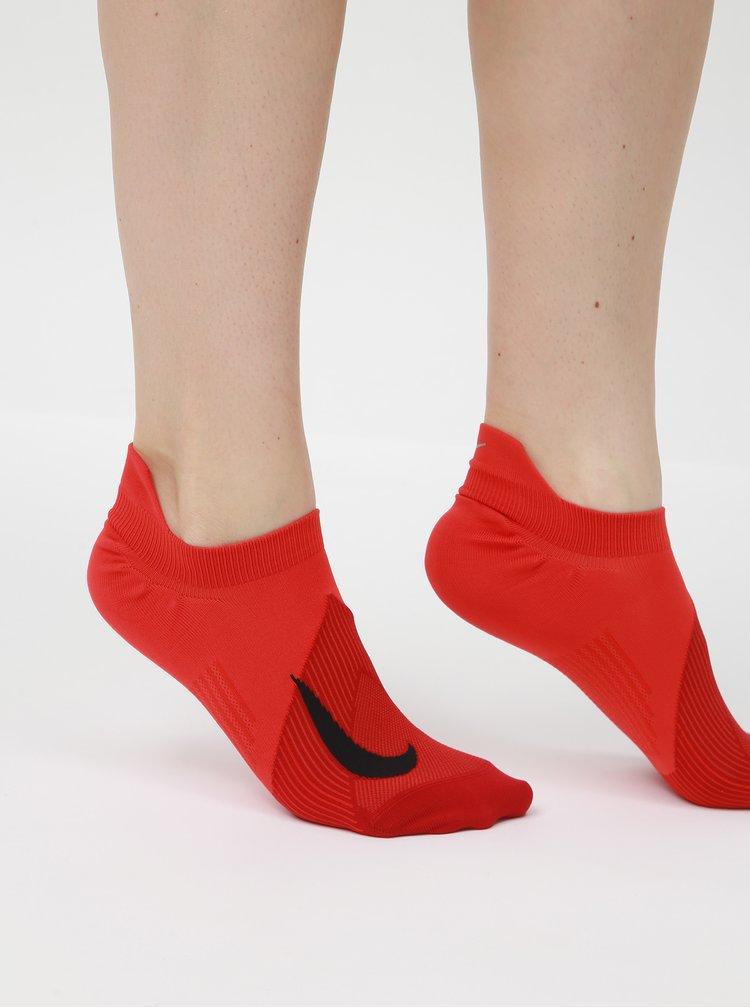 Červené kotníkové funkční ponožky Nike Elite Lightweight