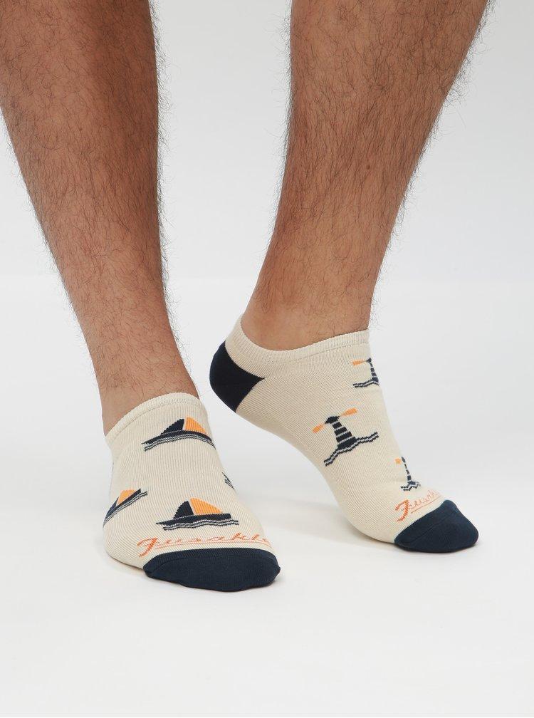 Krémové kotníkové ponožky Fusakle Na more