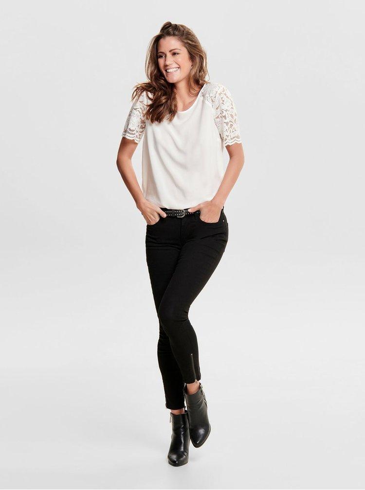 Bílá halenka s krajkovými rukávy Jacqueline de Yong Haze