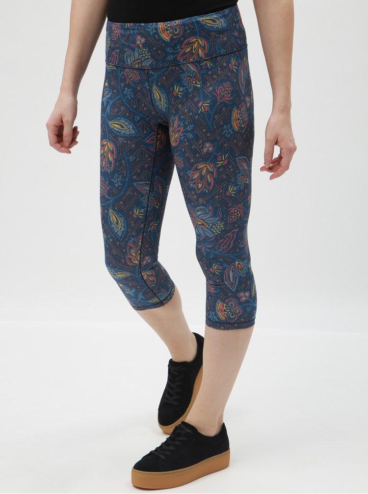 Leggings albastri pana la glezne cu model floral prAna Pillar