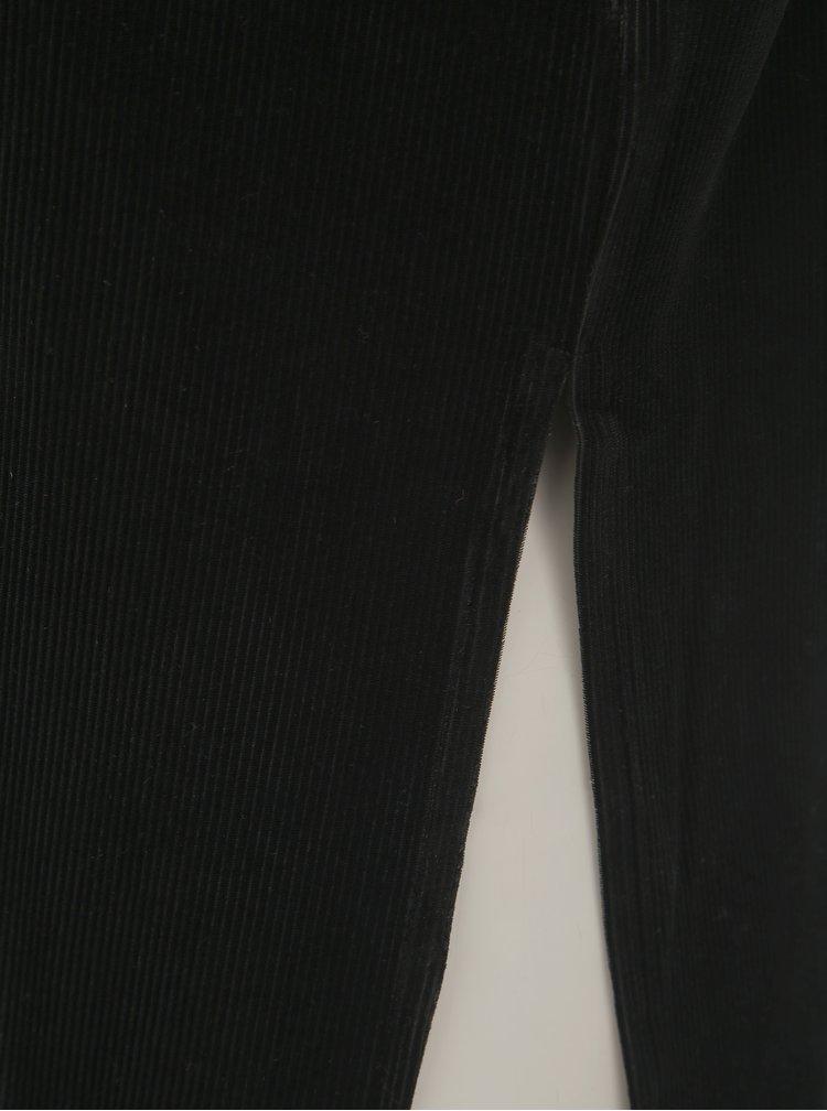 Tricou negru catifelat cu taietura TALLY WEiJL
