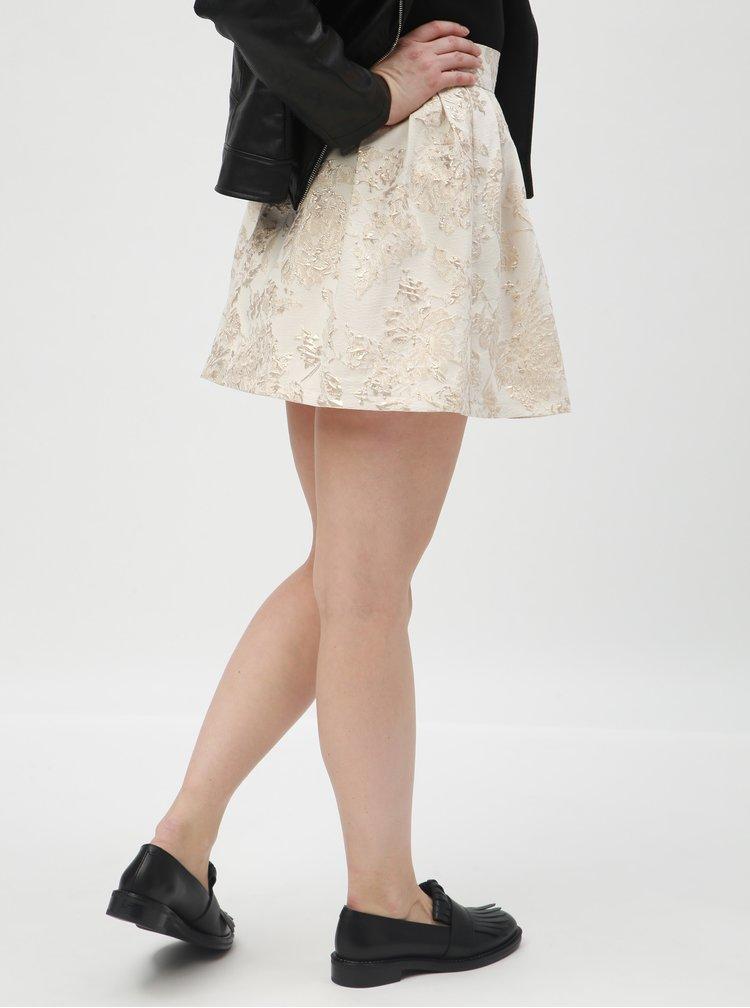 Krémová květovaná sukně TALLY WEiJL