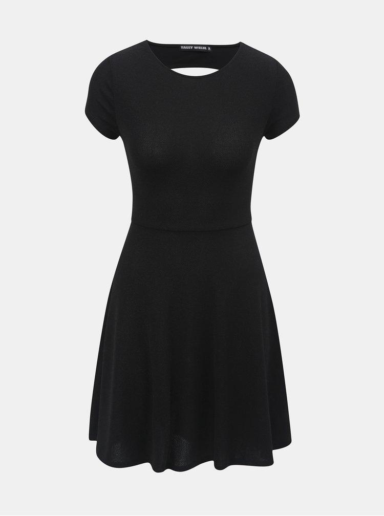 Černé třpytivé šaty TALLY WEiJL