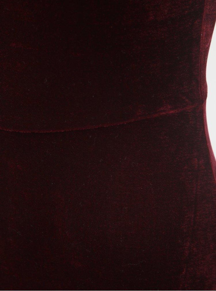 Rochie bordo catifelata cu funda TALLY WEiJL