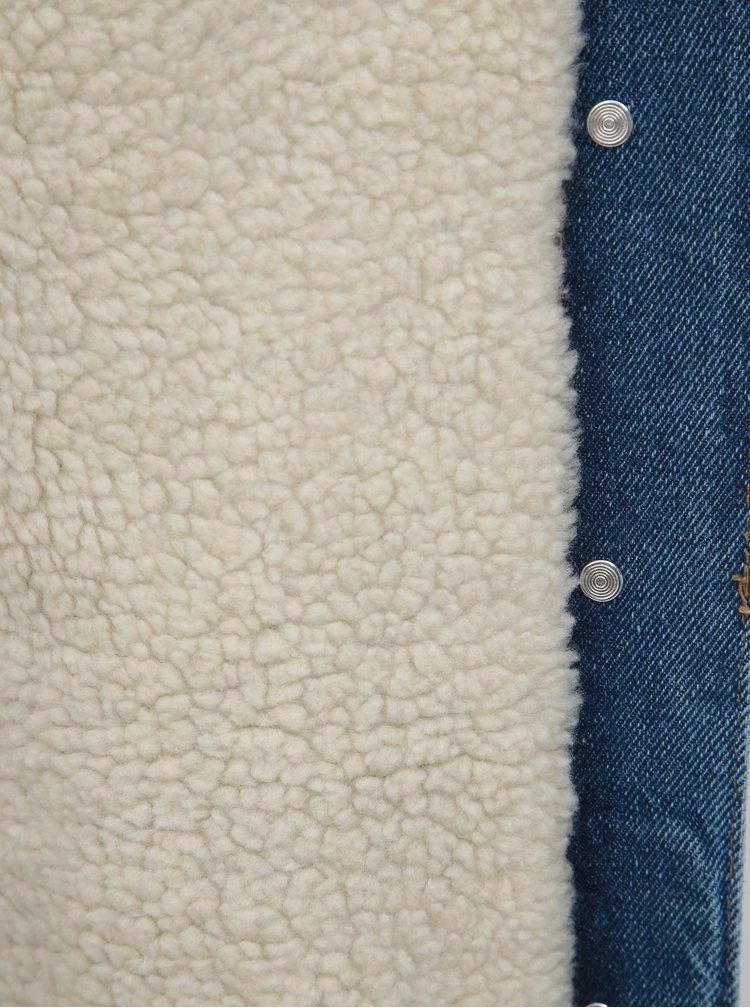 Jacheta din denim cu blana artificiala interioara TALLY WEiJL