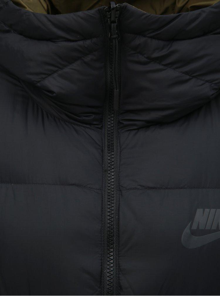 Pardesiu negru reversibil de dama de puf Nike