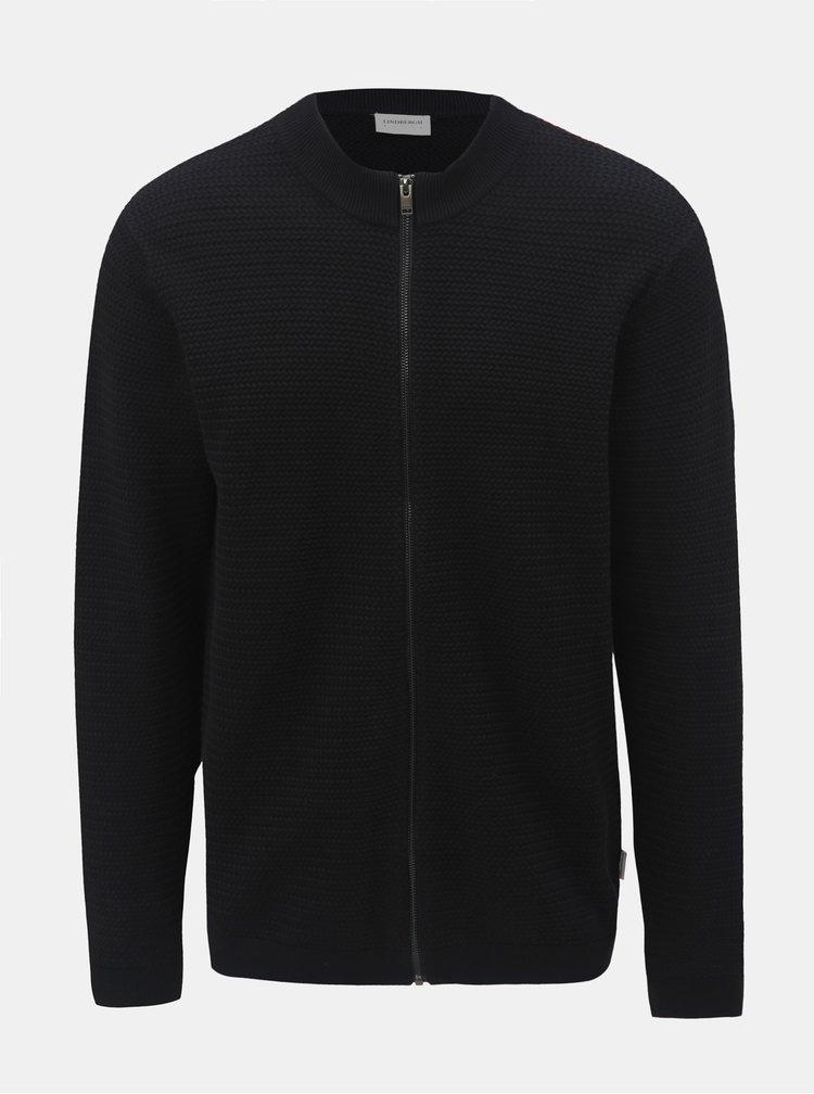 Černý svetr na zip Lindbergh