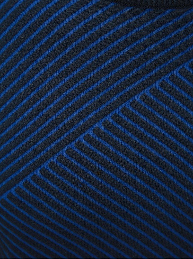 Tmavě modrý vzorovaný svetr Lindbergh