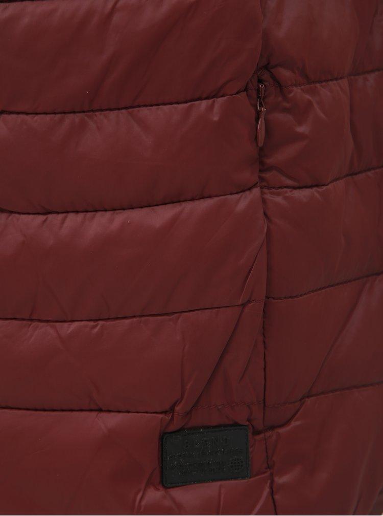 Vínová prošívaná vesta Blend
