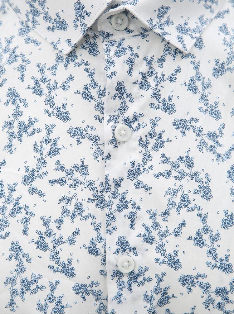 Modro–biela kvetovaná košeľa s dlhým rukávom Lindbergh