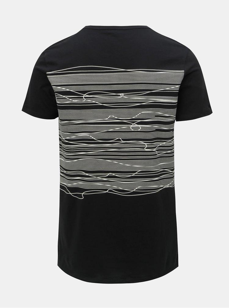 Čierne tričko s potlačou Shine Original Graphic