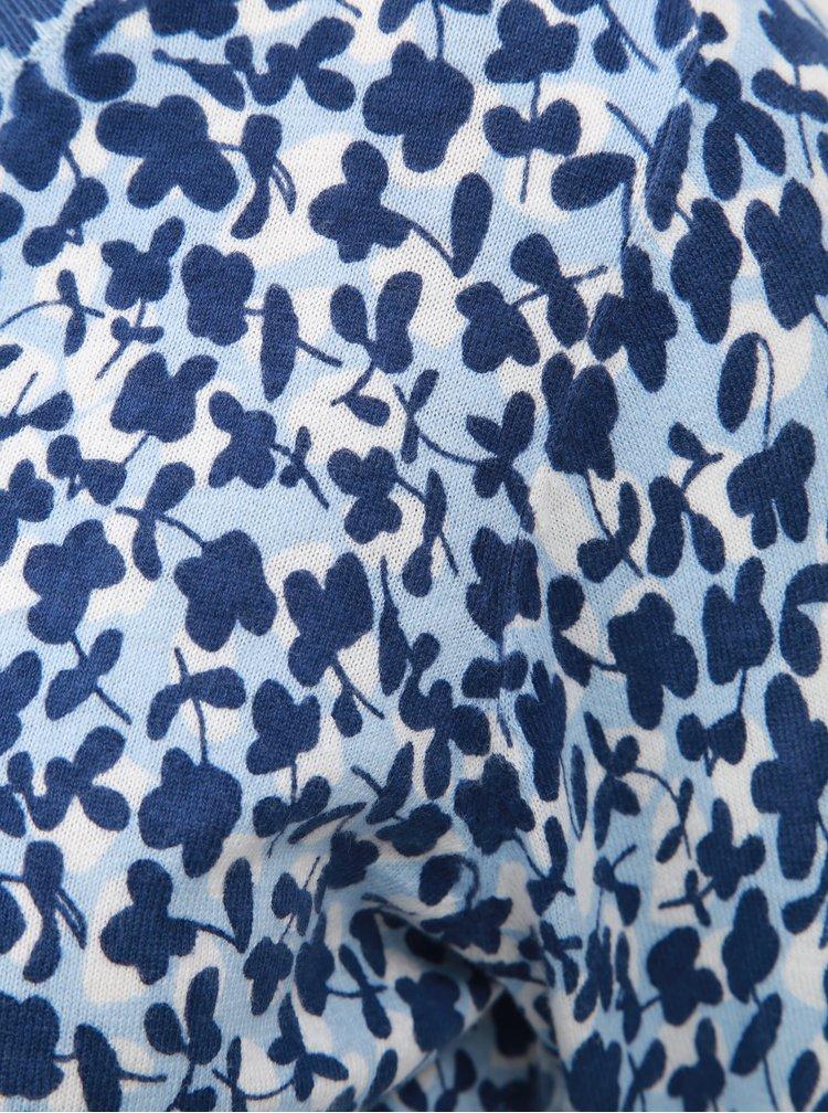 Bílo-modrý dámský vzorovaný svetr GANT
