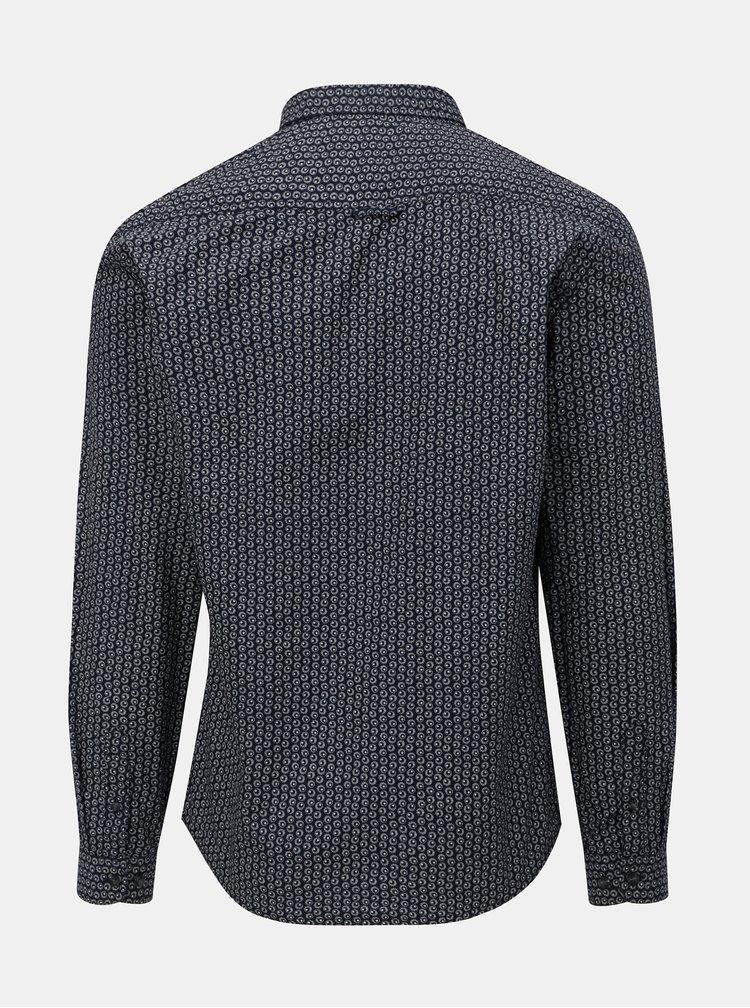 Tmavě modrá vzorovaná košile Shine Original