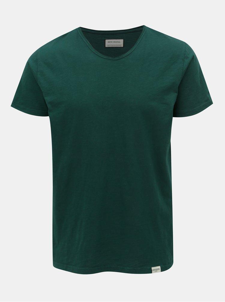 Tmavě zelené basic tričko Shine Original