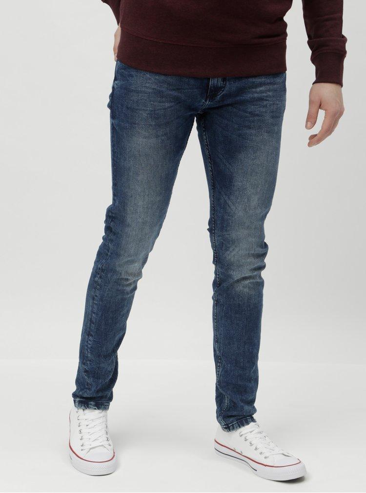 Blugi albastri slim fit Shine Original