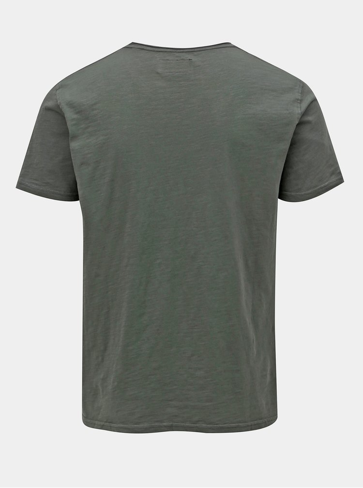 Kaki basic tričko Shine Original