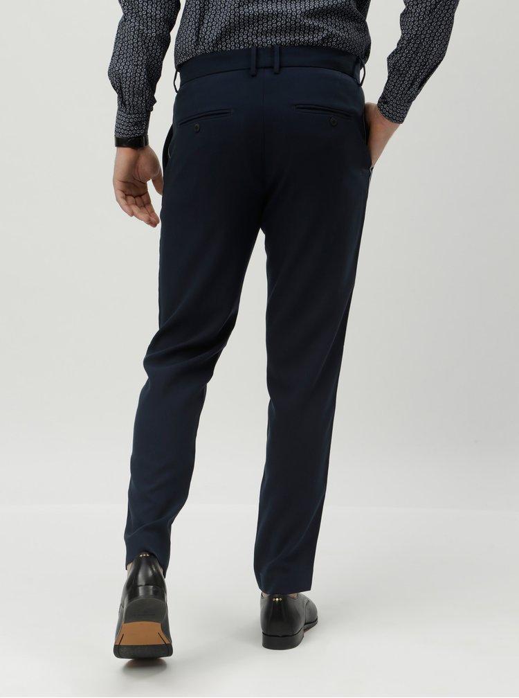 Tmavě modré chino kalhoty JUNK de LUXE