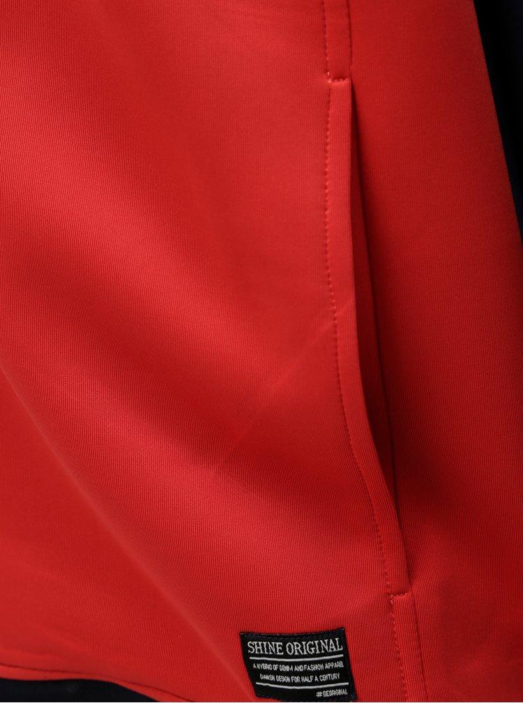 Modro-červená mikina s pruhem Shine Original Track