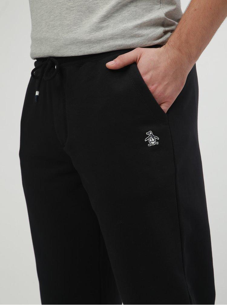 Černé slim fit basic tepláky Original Penguin Fleece