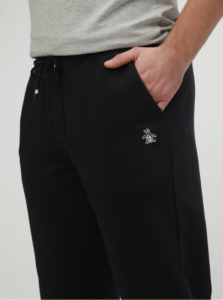 Pantaloni sport negri slim fit Original Penguin Fleece