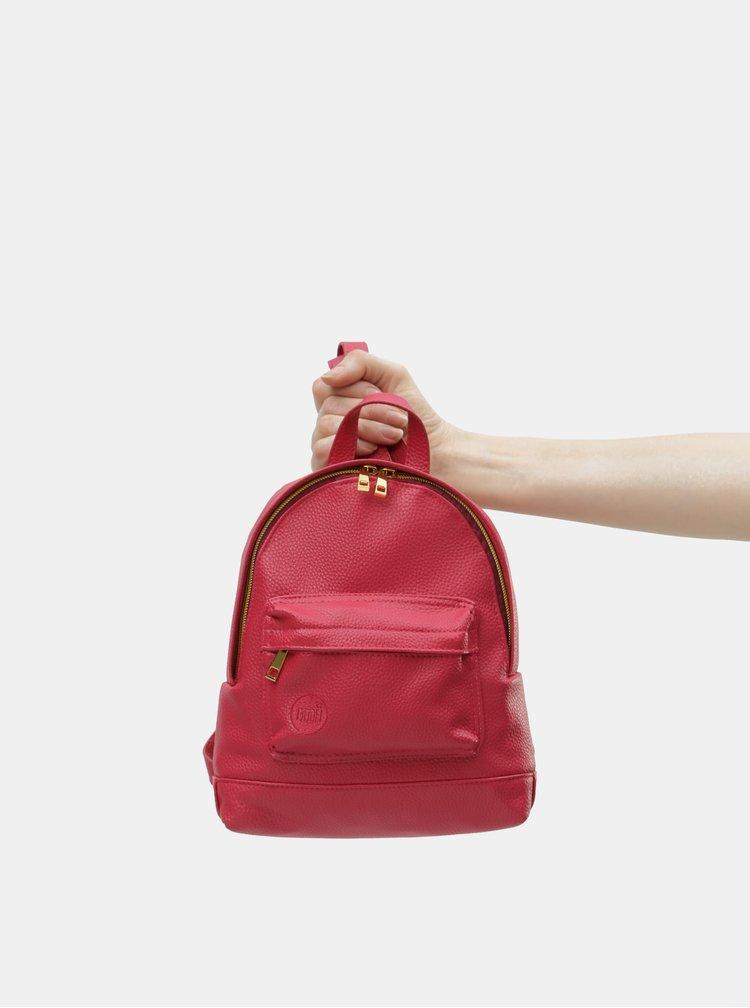 Rucsac de dama roz inchis mic rezistent la apa Mi-Pac Gold Super Mini