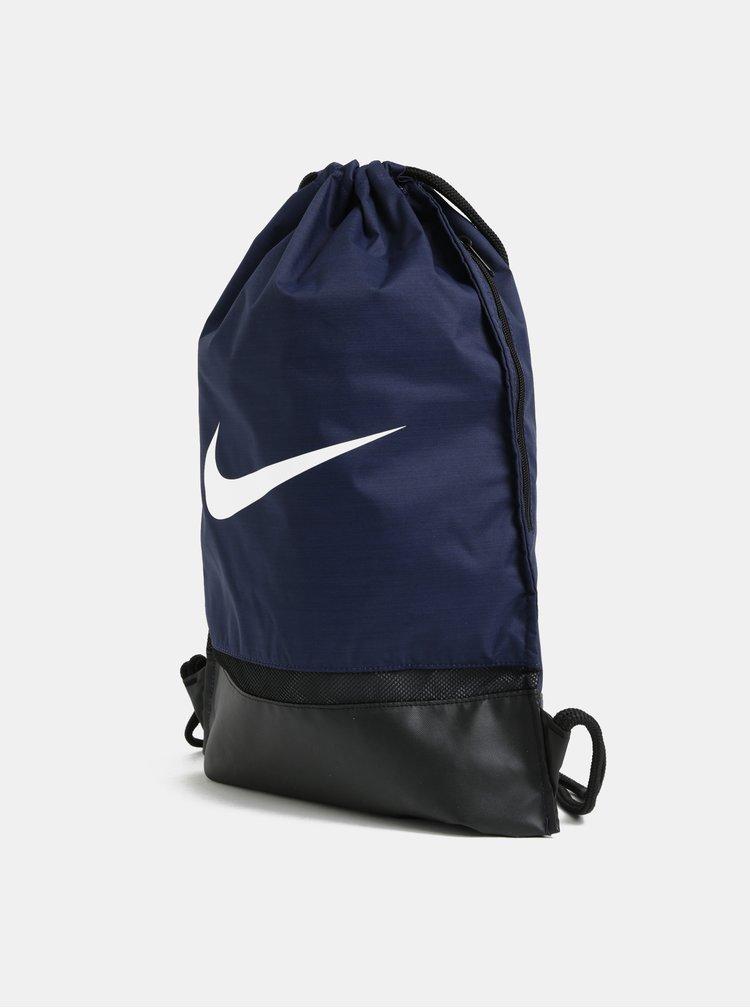Tmavomodrý nepremokavý vak s potlačou Nike 17 l
