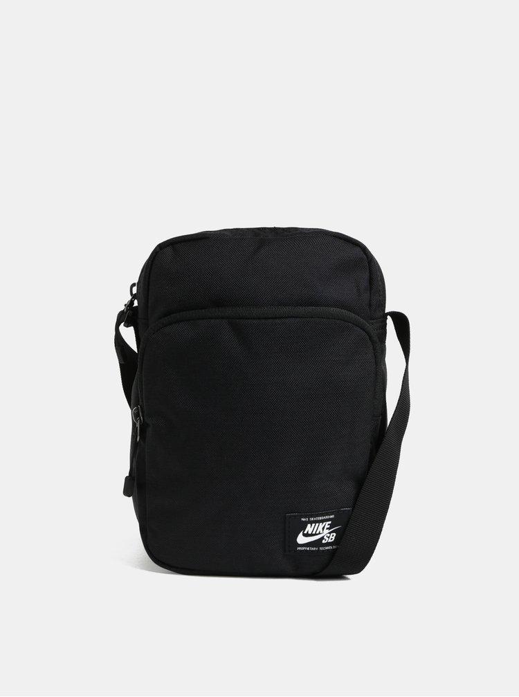 Černá crossbody taška s nášivkou Nike 3 l