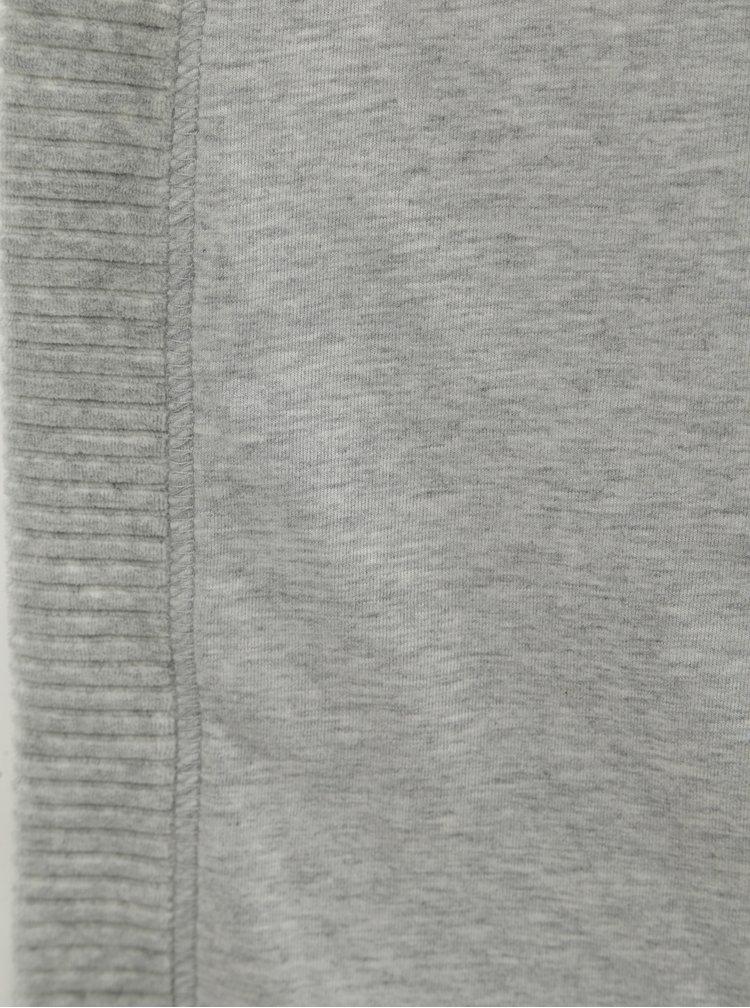 Halat de baie gri deschis cu striatii de dama Calvin Klein Underwear