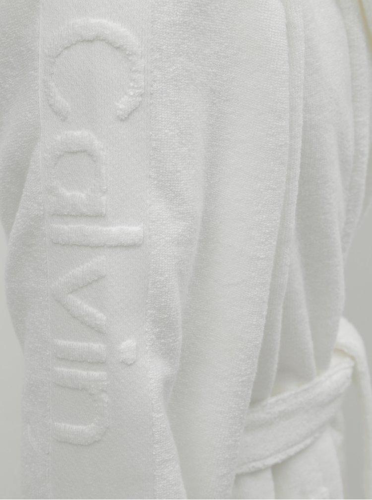 Bílý pánský župan na zavazování Calvin Klein Underwear