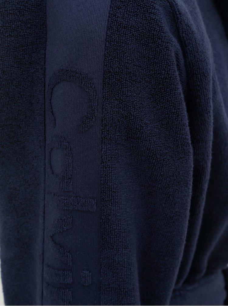Tmavomodrý pánsky župan na zaväzovanie Calvin Klein Underwear