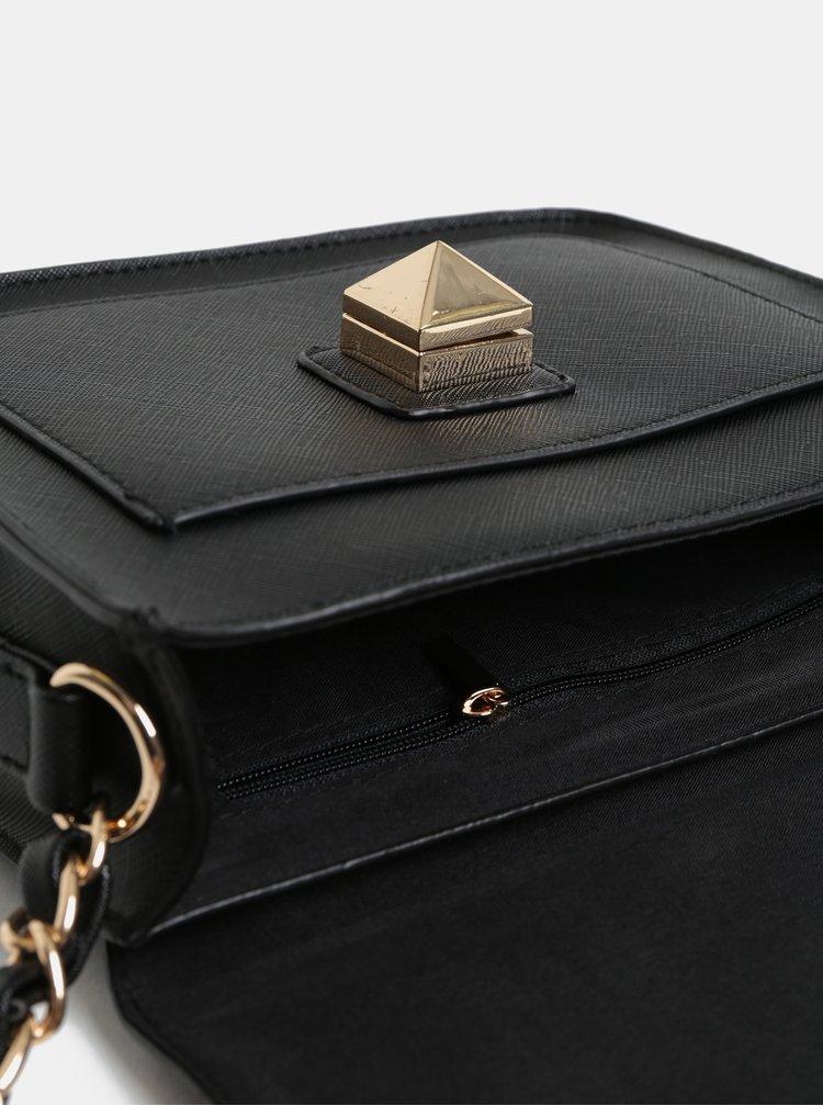 Čierna crossbody kabelka s detailmi v zlatej farbe Dorothy Perkins