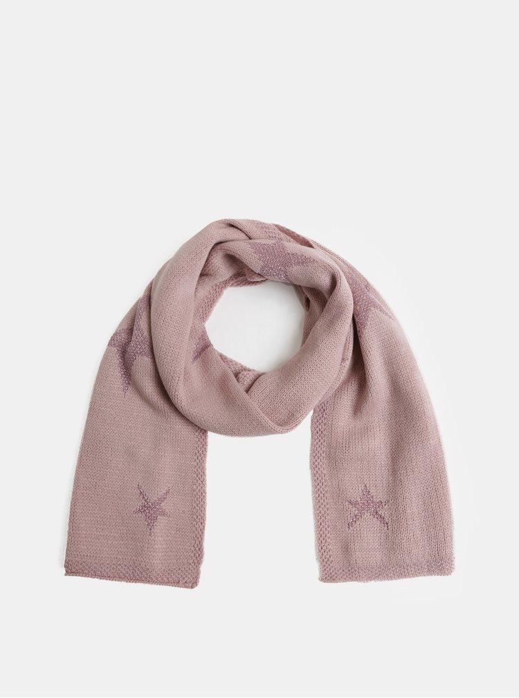 Fular roz deschis cu motiv stele Dorothy Perkins