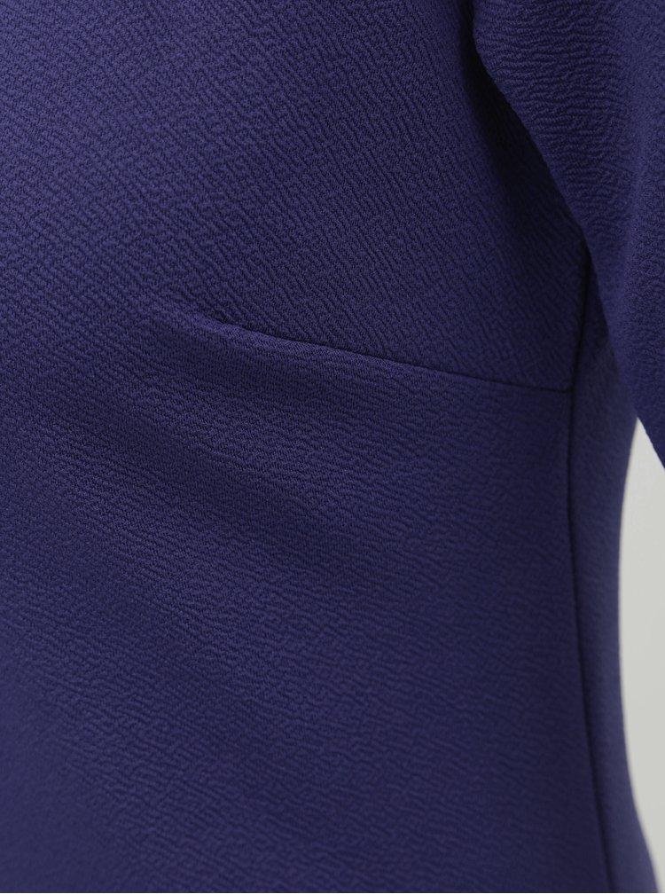 Modré puzdrové šaty s krátkym rukávom Dorothy Perkins Tall