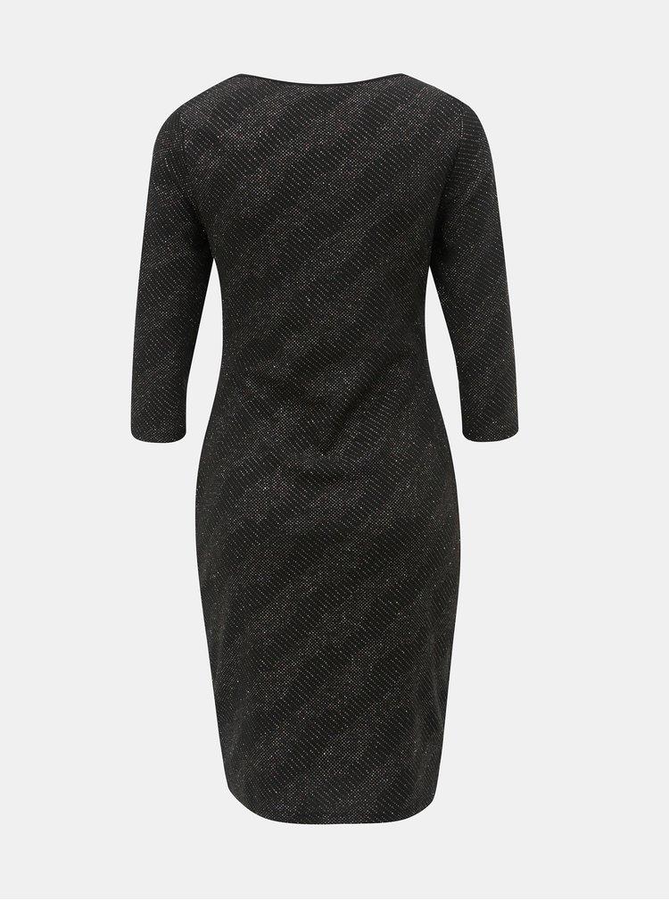 Černé pouzdrové šaty se třpytivým efektem Dorothy Perkins