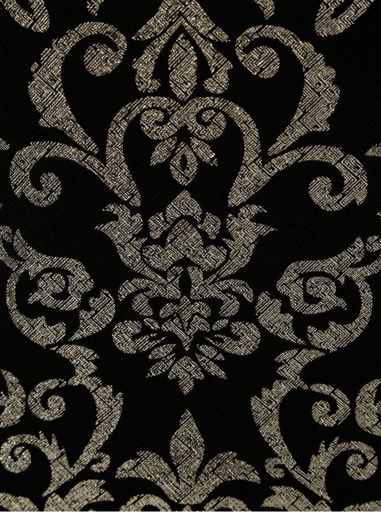 Pouzdrové vzorované šaty ve zlato-černé barvě Dorothy Perkins