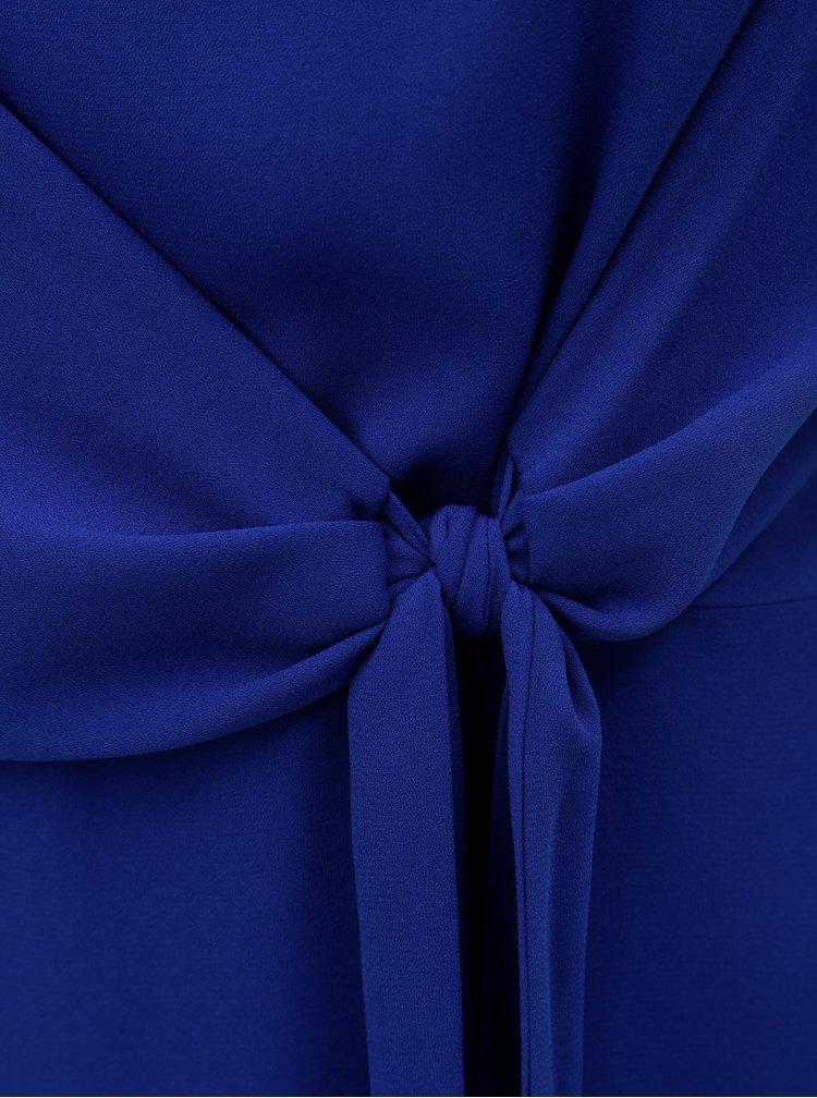 Modré šaty se zavazováním na boku Dorothy Perkins